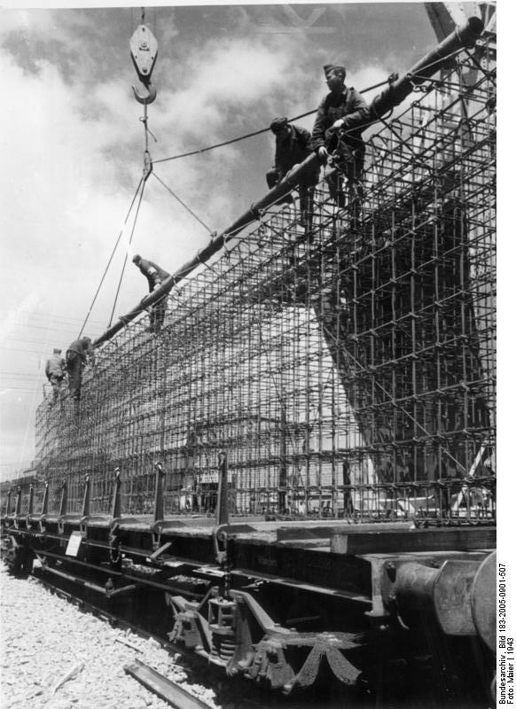 Atlantikwall im Bau